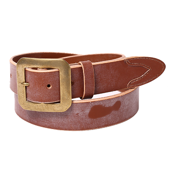 SHAPED-PEAK BRIDLE LEATHER BELT <2nd>