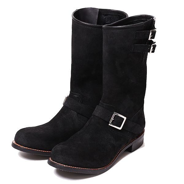 LADIES REBELS SUEDE ENGINEER BOOTS