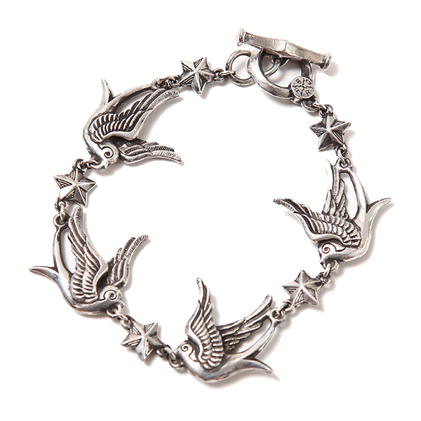 SWALLOW & STAR BRACELET <JOINS HANDS WITH CHAOS DESIGN>