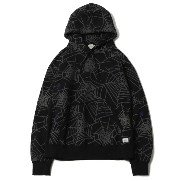 SPIDER NET SWEAT PARKA