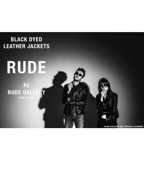 BLACK DYED LEATHER JACKETS by RUDE GALLERY