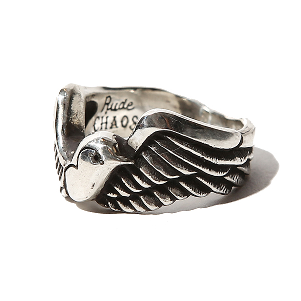 """SWALLOW RING - ONYX <Rude CHAOS>"""